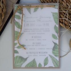 Botaniczne zaproszenie z kalką